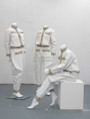 <p>Model Rodchenko</p><p> </p><p>2012</p><p>3 primed canvases, 3 mannequins, plinth</p><p>each ca. 160 cm</p>