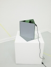 "<div class=""meta"">            Neurotic Structure (Live)<p> </p><p>2013</p><p>6 mirrors, magnets, sound proofing foam, 2 webcams, 2 computers, monitor, internet connection, ethernet cable (Detail)</p><p>dimensions variable, installed in two locations (Berlin and Bristol)</p></div>"