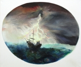 <p>Doom Boat - Gloria/you can hear it</p><p> </p><p>2015<br />oil on canvas<br />120 x 100 cm</p>