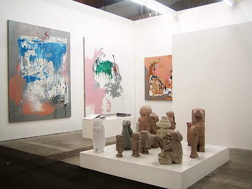 Cruise & Callas at Art Brussels, 2012. Works by Ralf Dereich and Stefan Rinck