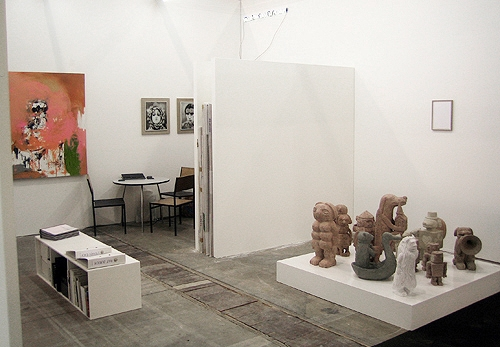 Cruise & Callas at Art Brussels, 2012. Works by Ralf Dereich, Alexandra Hopf, Stefan Rinck and Sibylla Dumke