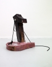 <p>Felix Oehmann</p><p><br />Hooked on a feeling, 2013<br />cardboard, rope, resin, paint<br />112 x 67 x 95 cm</p>