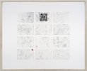 <p>DELETHE Visitenkarten Nr. 9</p><p> </p><p>2014<br />set of twelve business cards of paper with QR code, metal abrasion<br />framed 38,3 x 46,6 cm</p>