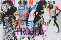 <p>Aspired Fashion Designer</p><p> </p><p>2009</p><p>Silkscreen and acrylic on linen</p><p>115 x 170 x 4 cm</p>