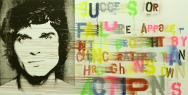 <p>Success or Failure Apparently Brought by Chance Rather Than Through Ones Own Actions</p><p> </p><p>2009</p><p>Silkscreen, acrylic and varnish on linen</p><p>100 x 200 x 4 cm</p>