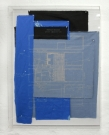 <p>Mapping the Museum</p><p> </p><p>2010<br />Various fabrics, acrylic, bleach, acrylic glass box<br />126 x 101 x 11 cm</p>